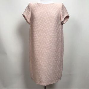 Maje Textured Short Sleeve Scoop Neck Dress